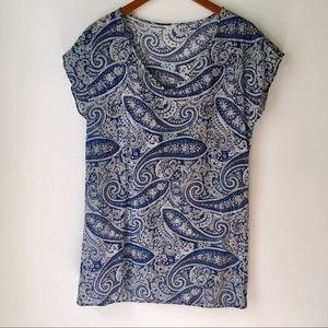 3/$30 J. Crew Paisley Shift Dress/Pool Cover Up